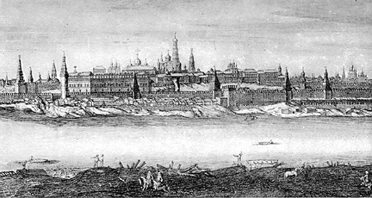 View of the Kremlin in 1715
